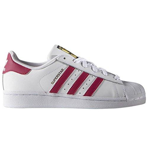 adidas Superstar Foundation J, Sneaker Unisex – Bambini Bianco (Ftwr White/Bold Pink/Ftwr White)