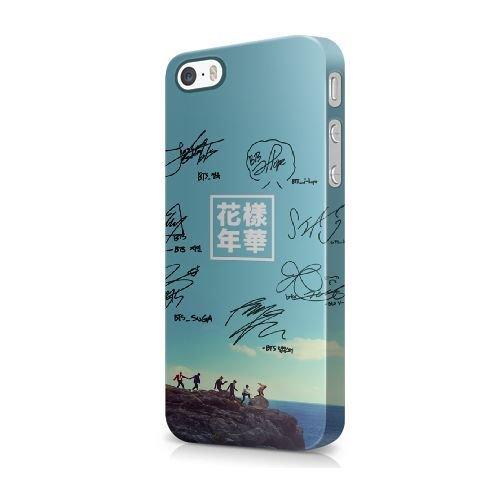 COUTUM iPhone 5/5s/SE Coque [GJJFHAGJ74971][BTS BANGTAN BOYS THÈME] Plastique dur Snap-On 3D Coque pour iPhone 5/5s/SE BTS BANGTAN BOYS - 017