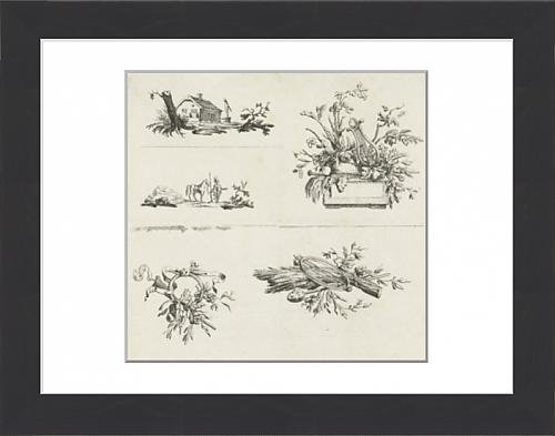 41Vic0m0EPL UK BEST BUY #1Framed Print of Journal with five vignettes, Willem Bilderdijk, 1766   1785 price Reviews uk
