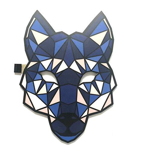 (WSK LED Rave Maske Sound aktivierte Lichtmaske -Lokomotive Maske, Maske für Party, Halloween Karneval)