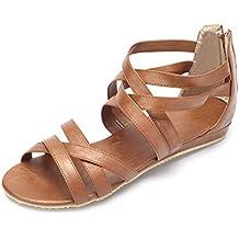Hueco sandalias romanas ocasionales en verano yardas grandes