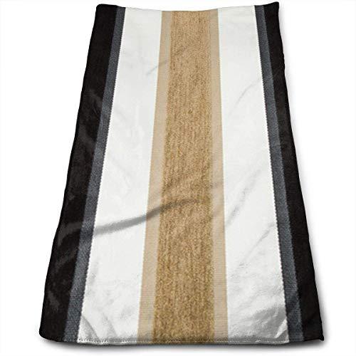 ewtretr Luxus Handtücher,Black Taupe Brown White Stripe Microfiber Beach Towel Large 11.8