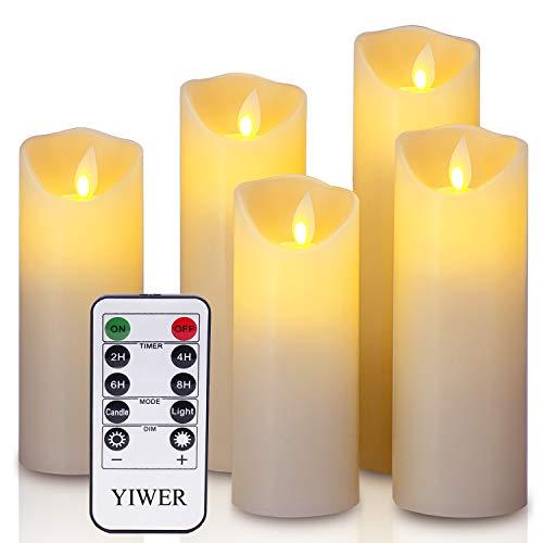 YIWER LED Velas sin Llama Φ 2.2 x H 5.5