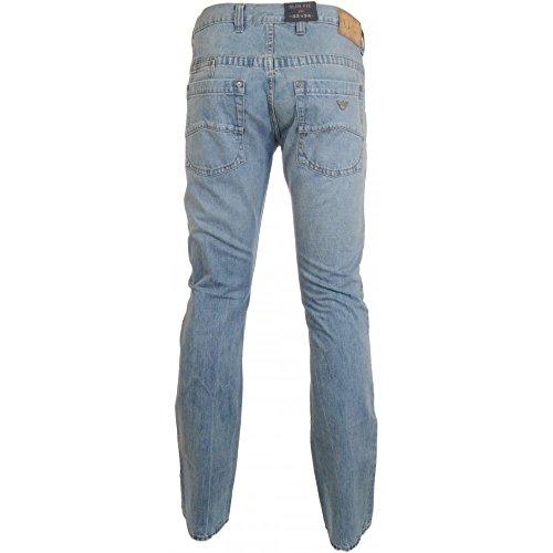 Armani Jeans Herren Jeanshose Blau Denim Blau - Denim