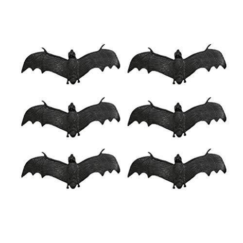 chte Fledermaus Simulation Spooky Looking Fledermäuse Halloween Tricky Requisiten für Halloween Party Aprilscherz Lieferungen ()