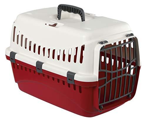 KERBL Box de Transport Expédition pour Chiens 48 X 32 X 32 cm Crème/Bordeaux