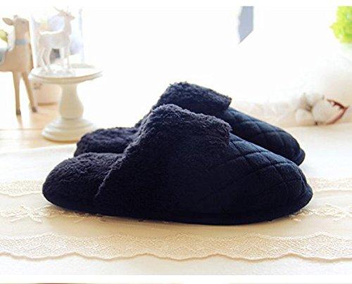 HH Chaussures de dessin animé mignon accueil chaleureux en hiver amoureux chaussures chaussures Indoor de la parole. chaussures Black