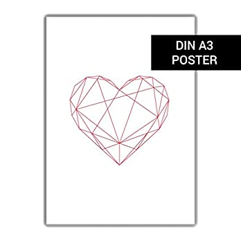 """DIN A3 Plakat""""Rotes Herz"""""""