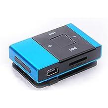 LANDFOX Mini clip USB de la tarjeta del SD TF reproductor de música en formato MP3 de la ayuda 8GB(Azul)