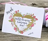 Happy Wedding Art Rubbellos Karte Willst Du meine Trauzeugin sein? Rubbelsticker Blumenkranz Hochzeit Trauzeugin Beste Freundin Einladung Karte Geschenk Idee #01