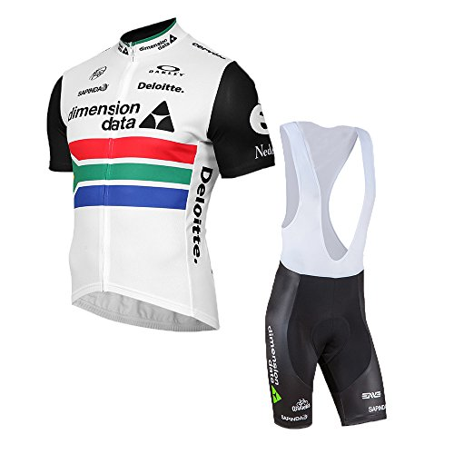 logas Herren Radtrikot Set Cycling Short Sleeve Jersey + Bike (Bib) Shorts 3D Gel Pad atmungsaktiv Team Radtrikot 2018
