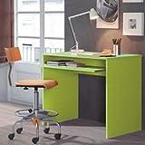 Habitdesign 002314V - Mesa de ordenador con bandeja extraible, color Verde, dimensiones: 90x79x54cm de fondo