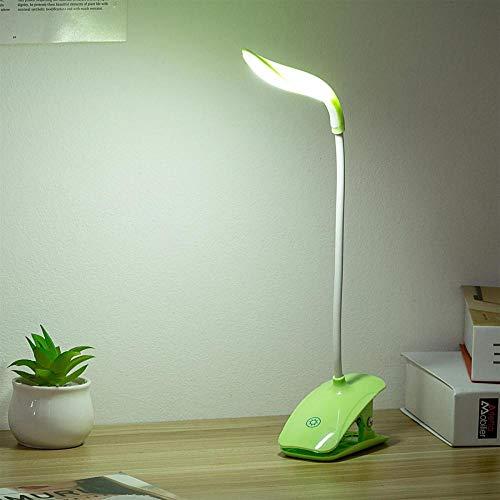 tischlampe led dimmbar,LED Augenschutz lernen USB Ladeklammer kleine Tischlampe Mini Schlafzimmer Nacht College Schreibtisch Schlafsaal Lesen, Cyan Band Clip -