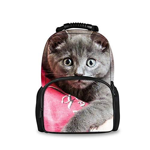 fhdc Rucksäcke Nette 3D Katze Tier FrauenSchultascheFür Studenten Mädchen Große Kapazität FrauenSchultasche W1858A - 100l Notebooks