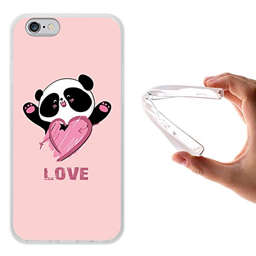 iPhone 6 6S Hülle, WoowCase Handyhülle Silikon für [ iPhone 6 6S ] Liebe Streifen Handytasche Handy Cover Case Schutzhülle Flexible TPU - Transparent Housse Gel iPhone 6 6S Transparent D0450