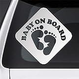 pegatina de pared frases Etiqueta engomada del coche bebé a bordo huellas para coches etiqueta