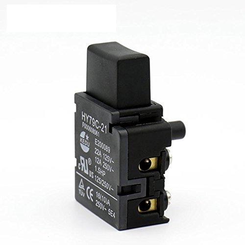 2PCS 16A 125/VAC industriale autobloccante interruttore a pulsante Power On off switch for Trigger sega trapano martello smerigliatrice hy79C-21