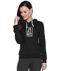 Campus Sutra Womens Printed Black Sweatshirt (AW15_H_W_TW_BL_S)