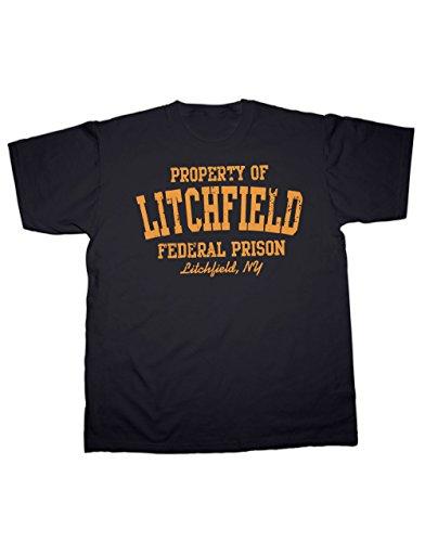 Litchfield federale prigione Arancione Maglietta da donna nero. Tutte le Misure. Sherbet Dip Black L