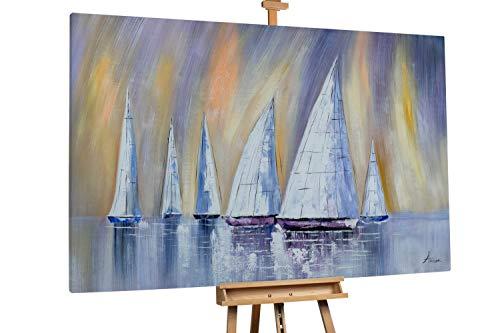 Kunstloft® Extraordinario Cuadro óleo 'Horizon'