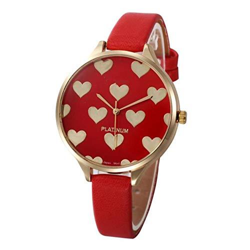 Uhren Damen Klassisch Uhr Frauen Armbanduhr Sport Uhren Beiläufige Kunstleder Quarz Analoge Armbanduhr Leder-Armband Uhr Uhrenarmband Watch,ABsoar