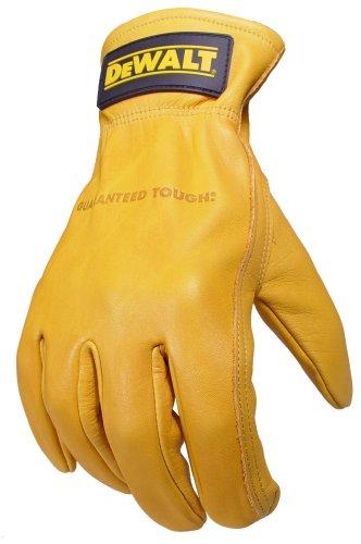 Dewalt-arbeits-handschuhe (Dewalt Getreide Rindsleder Treiber Arbeit Handschuh mit Keystone Daumen, DPG31XL)