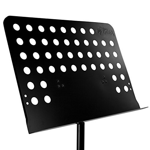 Tiger Orchestral Music Stand - Fully Adjustable Sheet Music Stand in Black