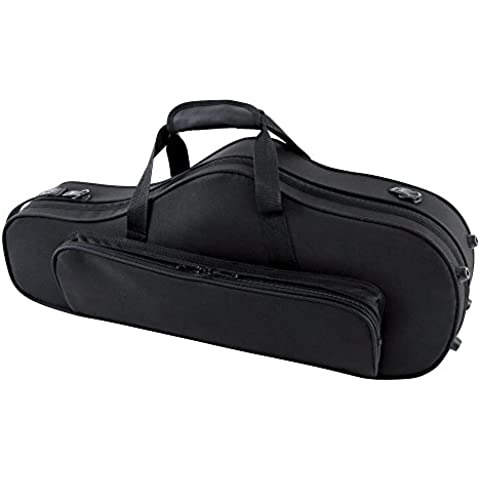 GEWA 708350 - Estuche con forma para saxo alto, serie Compact, ligero, exterior color negro