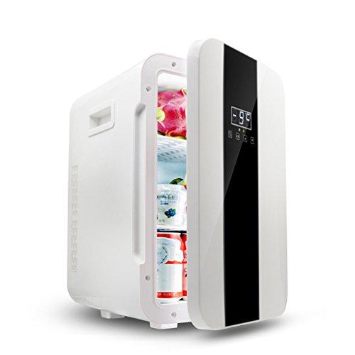 JCOCO Mini réfrigérateur 22L double-coeur boîte de glacière d'affichage numérique de reefer muet (bureau à la maison et utilisation de voiture) (Couleur : Black white)