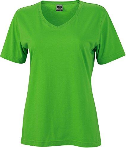 FaS50837 Workwear Damen T-Shirt V-Neck Shirt auch in Übergröße 60°C waschbar , Größe:3XL;Farbe:Lime Green (Junge Damen V-neck T-shirt)