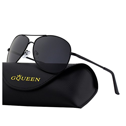 38e2b1f729c GQUEEN Classic Aviator Polarized Pilot Mirrored UV400 Protection Driving  Sunglasses with Premium Metal Frame for mens womens MZZ9