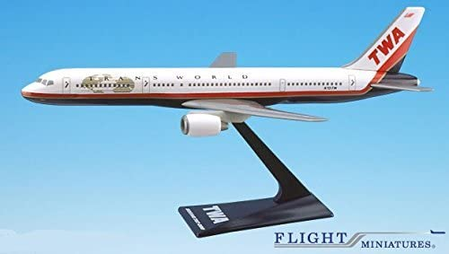 TWA (95-01) 757-200 Airplane Miniature Miniature Miniature Model Plastic Snap-Fit 1:200 Part ABO-75720H-029 0e2516