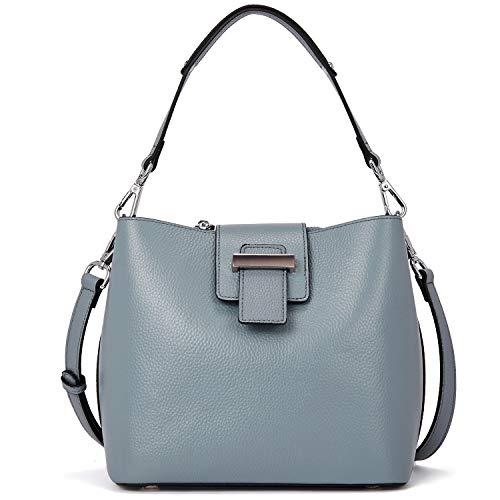 BOSTANTEN Damen Handtaschen Ledertaschen Frauen Henkeltaschen Designer Schultertasche Tote Bag Blau