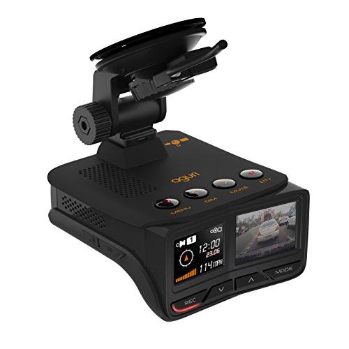 Aguri Fusion GTX100 Deutsche Ausgabe Radarwarner GPS/Radar/Laser-Radarfallenerkennung mit integrierter HD-DVR-Dashcam