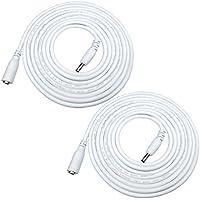 Liwinting 2piezas 5m DC Cable de extensión de alimentación 1,35 mm x 3,