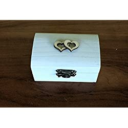 Caja para anillos boda color blanco Medidas 8,5x5x4,5 cm.