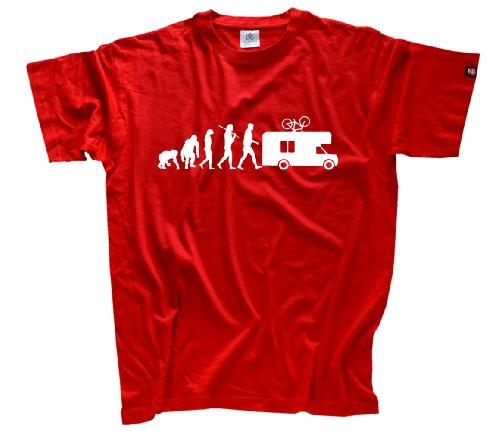 Shirtzshop Erwachsene T-Shirt Original Evolution Caravan Camper, Rot, XXXL, ss-Shop-ev2_carav-t