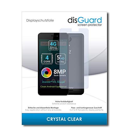 disGuard® Bildschirmschutzfolie [Crystal Clear] kompatibel mit Allview P7 Lite [4 Stück] Kristallklar, Transparent, Unsichtbar, Extrem Kratzfest, Anti-Fingerabdruck - Panzerglas Folie, Schutzfolie