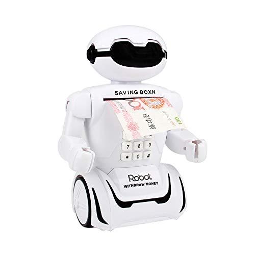 Makalon Creative Robot Electric Einsparungen Tank Spielzeug , mit interaktiver Musik Tischlampe Gieriger Roboter stehlen Münze Sparschwein Penny automatisierte Einsparungen Box Spielzeug Geschenk.