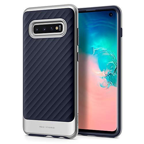 Spigen Neo Hybrid Cover Galaxy S10, con Protezione Interna Flessibile e Telaio Rigido Rinforzato per Galaxy S10 - Artic Silver