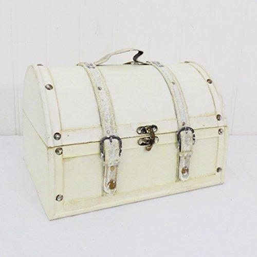 Grande estilo Vintage baúl de almacenaje en color crema efecto lavado