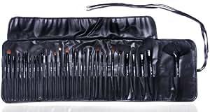 Set / Kit de pinceaux cosmétiques de maquillage professionnel par Gals: étui élégant de 32 pinceaux