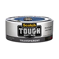 3M Scotch Transparent Duct Tape, 1.88-Inch by 20-Yard Pack of 3 (2120-A)