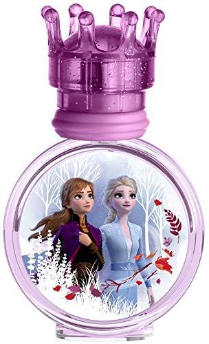 Air-Val Disney Frozen II Eau de Toilette Natural Spray: Anna & Elsa Parfüm im schönen Glasflakon mit Krönchen-Verschluss, 1er Pack (30ml)