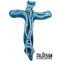 céramique crucifié signé ITALDESIGNFOGLIARO Matériel: céramique blanche N ° A000001