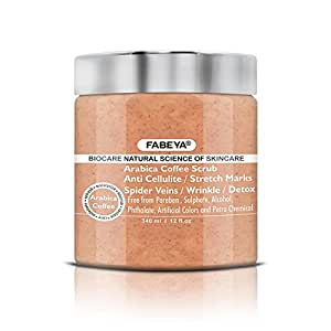 FABEYA Arabica Coffee Body Scrub and Polish - No Parabens - 340 ml Pack of 1