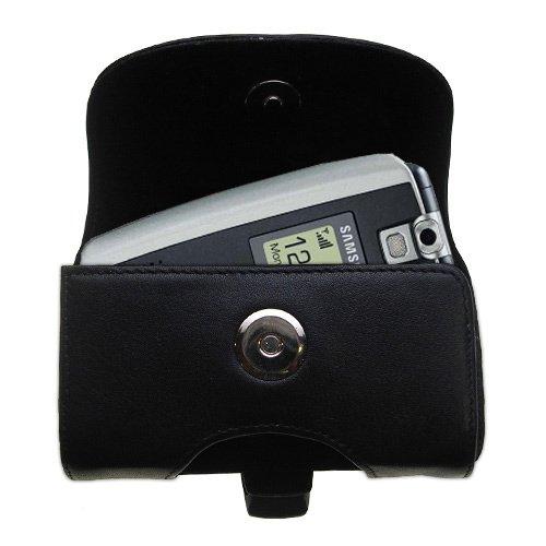 Gürtel Ledertasche Schwarz mit abnehmbaren Clip und Gürtelschlaufe für den Samsung SGH-T719