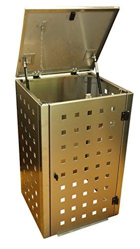 Mülltonnenbox, Eleganza für 120 ltr. Tonne, Grösse 63 x 56 x 102 cm (BTH, für die kleineren 120 Liter Tonnen) - 2