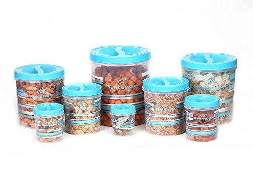 Princeware-Twister-Plastic-Package-Container-Set-8-Pieces-Blue