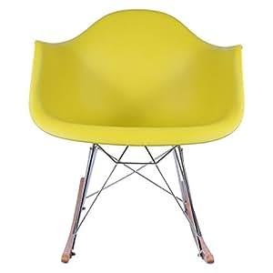 Fauteuil Rocking chair RAR - Moutarde